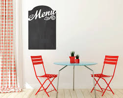 menu chalkboard vinyl wall decal size small kitchen wall