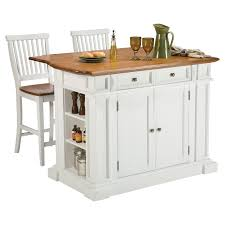 White Kitchen Storage Cabinet Home Styles Monarch Slide Out Leg Kitchen Island With Granite Top