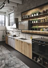 kitchen style natural wooden cabinet and modern rustic kitchen