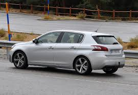 peugeot 308 gti white peugeot 308 gti hatch spotted photos 1 of 6