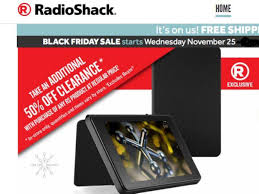 radioshack beginning black friday on wednesday