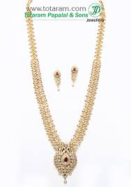 diamond sets images 18k gold 3 in 1 diamond vaddanam necklace earrings set