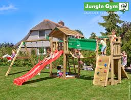Double Swing Cottage Tower With Bridge Module And Double Swing Play And Sports