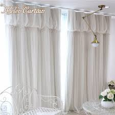 pink girl curtains bedroom helen curtain modern 2 layers romantic lace tulle curtains for