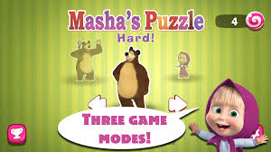 masha bear puzzle game android apps google play