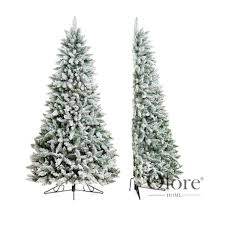 flocked noble 7ft half artificial frosted christmas tree