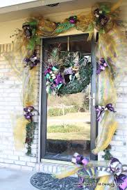 mardi gras door decorations flower child designs february 2012