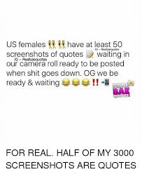 us females at least 50 ig realbaequotes screenshots of quotes