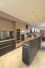cuisine cappuccino cuisine stratifié brillant chêne gris plan décor