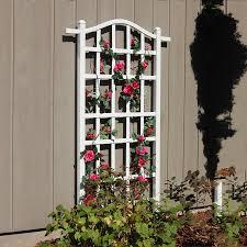 shop dura trel 35 in w x 75 in h white transitional garden trellis