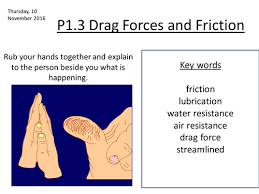p1 3 drag forces and friction by crf509 teaching resources tes