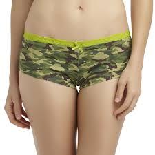 joe boxer women u0027s lace waist hipster panties camouflage