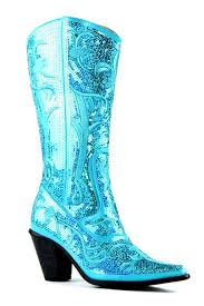 s boots with bling helen s bling boots in turquoise lb 0290 12 nchantment