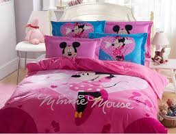 Minnie Mouse Bed Frame Winter Worm Home Textile Minnie Mouse Bedding Sets Coral Fleece