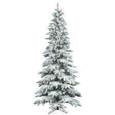 the aisle flocked utica fir 7 5 white artificial