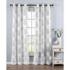 Cotton Curtains And Drapes White Cotton Curtains U0026 Drapes Window Treatments The Home