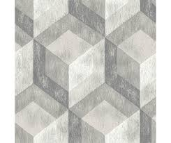 rustic wood tile ash geometric wallpaper barrydowne paint