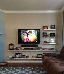 Tv Wall Shelves by Mounte Tv With Shelf Under Google Search Tv Mounted In Bedroom