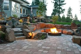 backyard landscaping with pit top 60 best pit ideas heated backyard retreat designs
