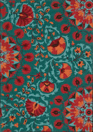 Nourison Kitchen Rugs Nourison Industries Area Rug Collections Suzani Orange Aqua