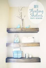 Small Shelf For Bathroom Stunning How To Hang Floating Shelves On Drywall Photo Decoration