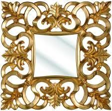 stock photo golden frame with baroque ornaments in gold mirror the