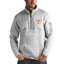 pullover sweater s antigua heathered gray tennessee volunteers fortune 1 2 zip