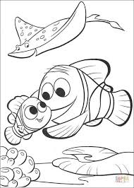 marlin finding nemo coloring free printable coloring pages