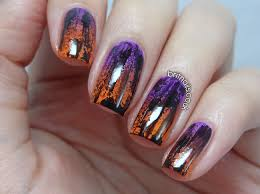 distressed halloween gradient brit nails nail designs