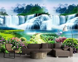 compare prices on life wallpapers online shopping buy low price beibehang 3d wall paper flower tree path waterfall landscape landscape art murals life bedroom children room