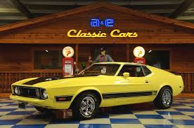 Black Mustang Car 1973 Ford Mustang Mach 1 U2013 Yellow Black U2013 A U0026e Classic Cars