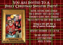customized christmas party invitation ugly sweater party 5x7