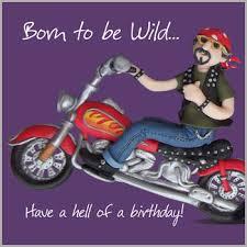 born to be wild birthday card karenza paperie