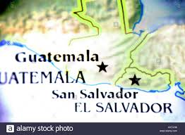 Map Of El Salvador Close Up Map Of Showing The Countries Of Guatamala And El Salvador
