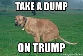 Pooping Memes - take a dump on trump dog pooping meme generator