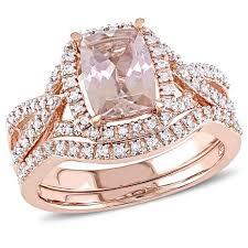 pink morganite 1 57ctw pink morganite and white diamond 10k gold 2