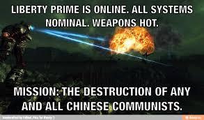 Liberty Prime Meme - hops and heroes