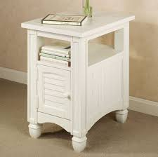 furniture decorative small white side table with storage fine