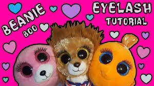 ty beanie boo fashion diy eyelash tutorial super cute
