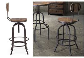 Wooden Bar Stool With Back Attractive Industrial Bar Stools With Back Metropolis Low Back