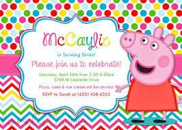 peppa pig birthday the 25 best peppa pig birthday invitations ideas on