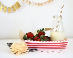 plain paper trays food boat template diy printable pdf