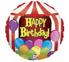 circus balloon betallic 86821 circus tent birthday holo flat balloon