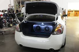 nissan altima custom parts professional car audio installation service in los angeles