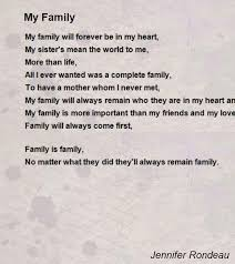 my family poem by rondeau poem