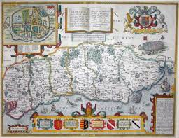 Hastings England Map by Sussex The Antique Map Shop Ltd Bath England