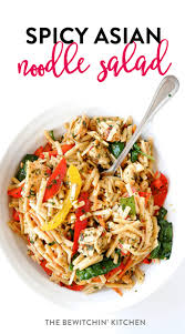 cold pasta salad recipes spicy asian noodle salad with grilled chicken the bewitchin kitchen