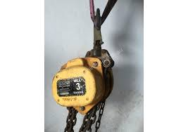 block and tackle l used boss by bullivants chain hoist 3 ton x 3 meter drop lifting