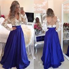 dress long sleeves prom dress v neck prom dress satin prom