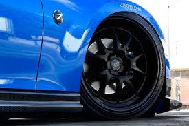 nissan 370z matte black concept one csl5 5 wheels matte black with gloss black lip rims